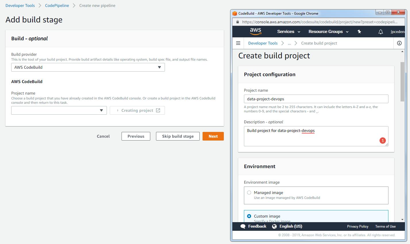 Configure the build provider
